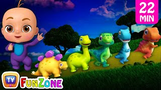 Five Little DinosMany More 3D Nursery RhymesSongs for Kids Dinosaur Rhymes by ChuChu TV