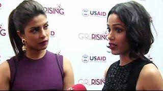 "Priyanka Chopra, Freida Pinto on ""girl rising"" campaign"