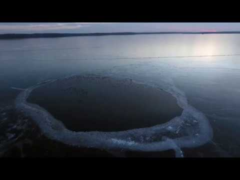 First Drone Flight of the Year! Frozen Lake Flyover