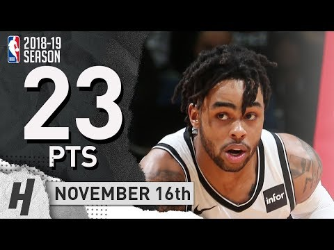 D'Angelo Russell Full Highlights Nets vs Wizards 2018.11.16 - 23 Pts, 6 Ast, 3 Rebounds!