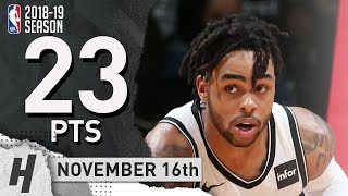 D'Angelo Russell Full Highlights Nets vs Wizards 2018.11.16 - 23 Pts, 6 Ast, 3 Rebounds! thumbnail