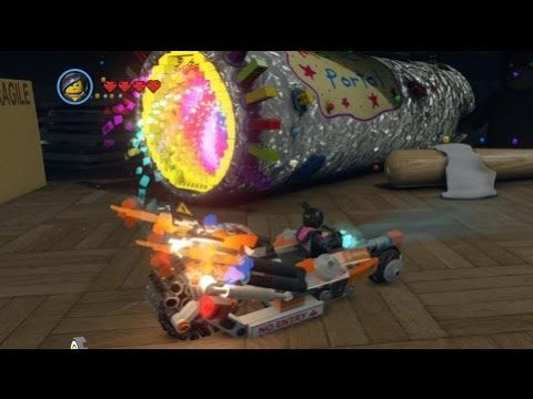 The Lego Movie Videogame Golden Instruction Build 2 Super Cycle Vehicle Showcase Youtube