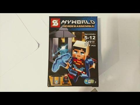 Building Unlicensed Superman Knock-Off Legos