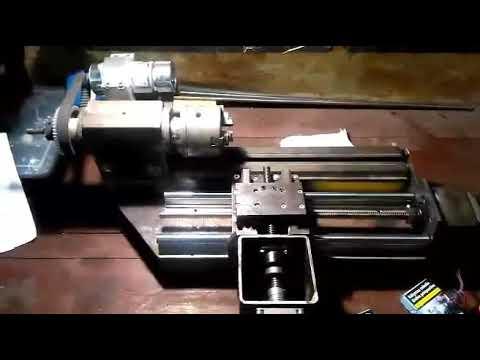 Homemade mini CNC lathe project