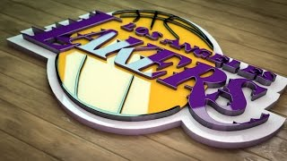 Lakers logo 3D SpeedArt