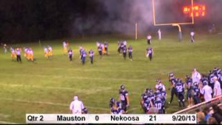 2013 Nekoosa Football vs. Mauston (9/20) Highlights