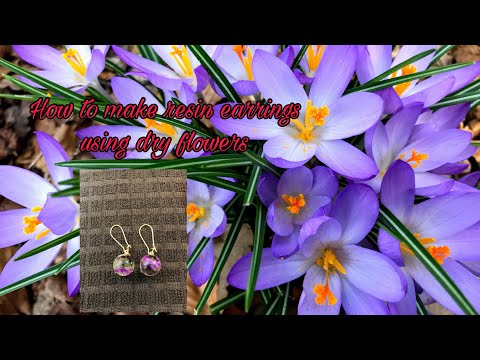 How to make resin earrings
