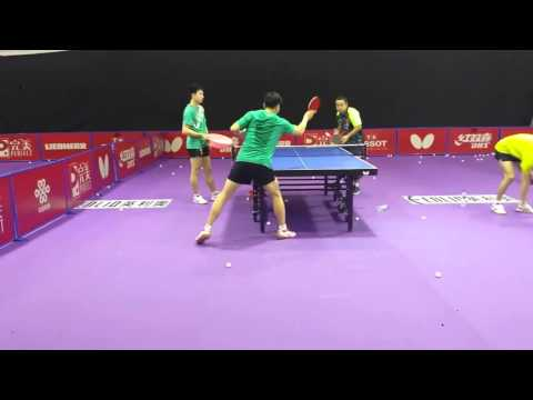 Ma Long Receive Serve Practice - World Team Championships 2016!