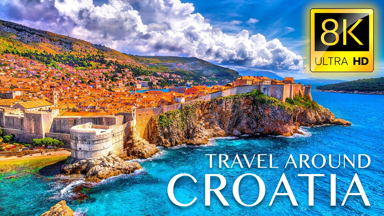 Stunning Trip to Croatia in 8K ULTRA HD - Best Places in Croatia with Relaxing Music 8K TV