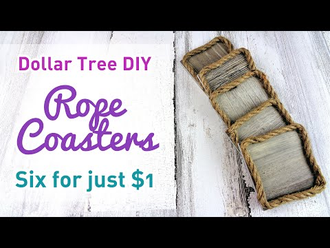 Quick And Easy Dollar Tree Rope DIY Coasters - Six For Just $1 - Useful DIY Challenge June 2019