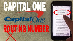 ✅  Capital One Bank ABA Routing Number - Where Is It? ?