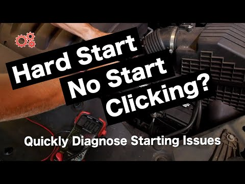 Car Won't Start? Clicking? Diagnose Battery , Alternator and Starter Issues