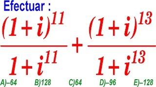 Cantidades Imaginarias - Nivel UNI - Problema Resuelto - Examen Ingreso Universidad Álgebra Rubiños