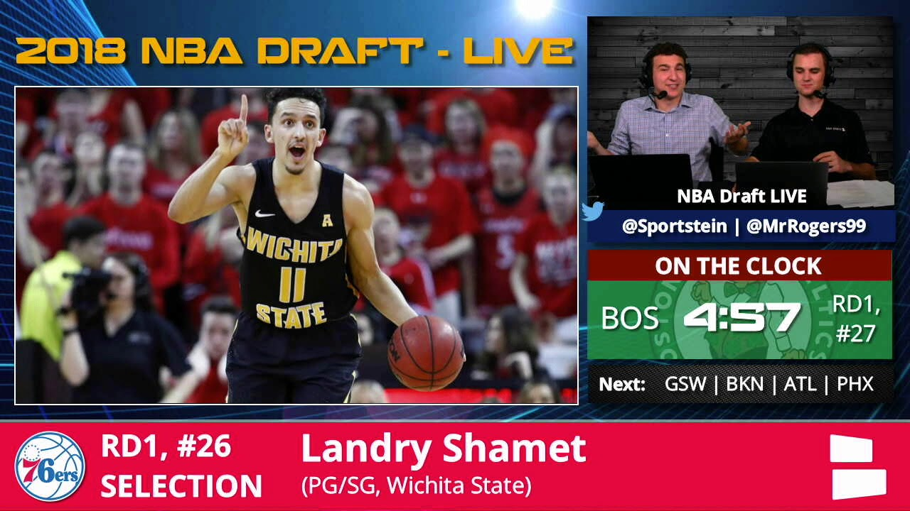 brand new 85179 a92bc Philadelphia 76ers Select Landry Shamet From Wichita St With Pick #26 In  1st Round Of 2018 NBA Draft