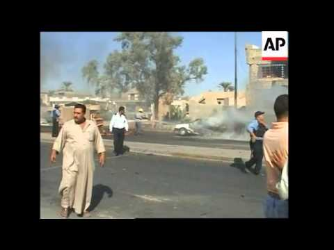 Suicide car bomb and IED attacks in Baghdad