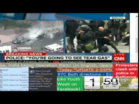 BREAKING NEWS: Riots in Baltimore - CNN International - Lake City TV