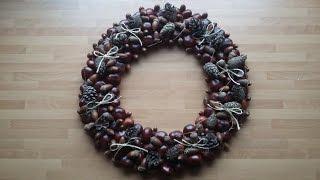 DIY EASY Autum Wreath Tutorial | Gör Det Själv: Höstkrans Enkelt