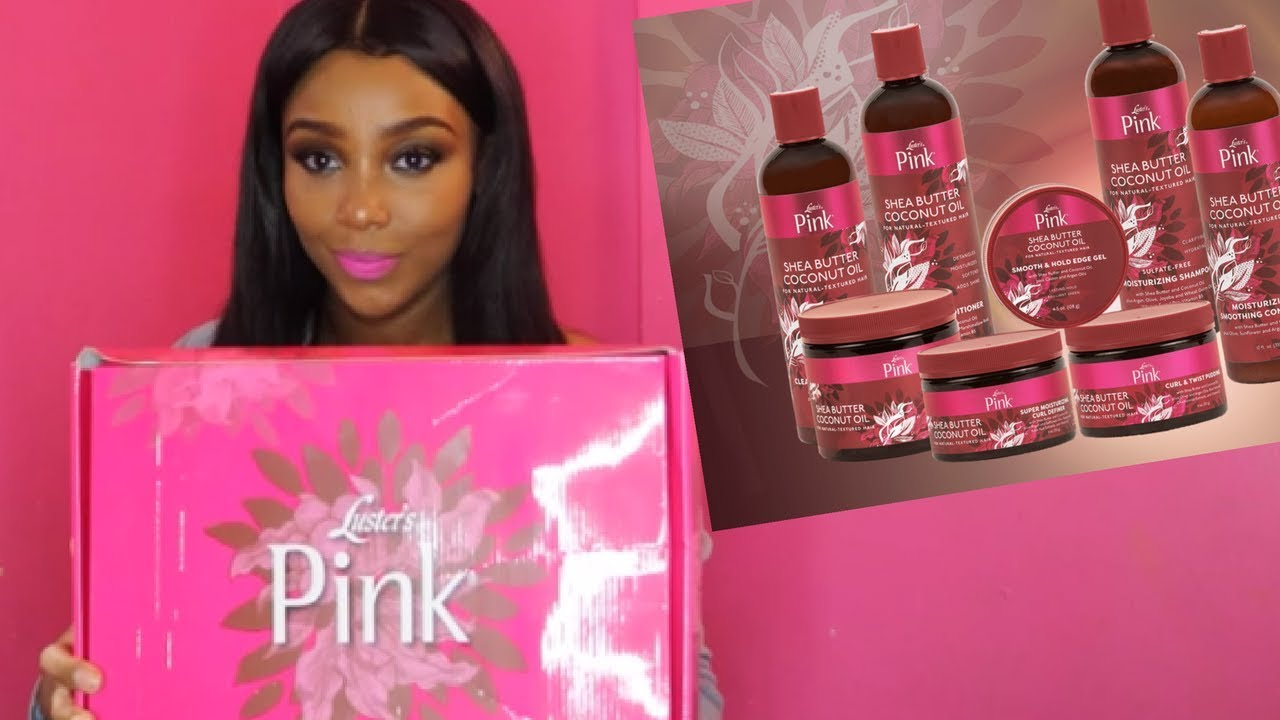 Luster's Pink Shea Butter and Coconut Oil Line   Unboxing