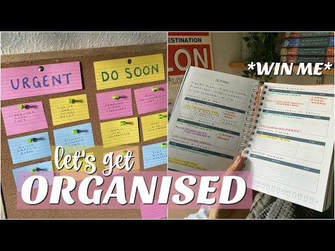 get organised with me at university - tips for productivity!!