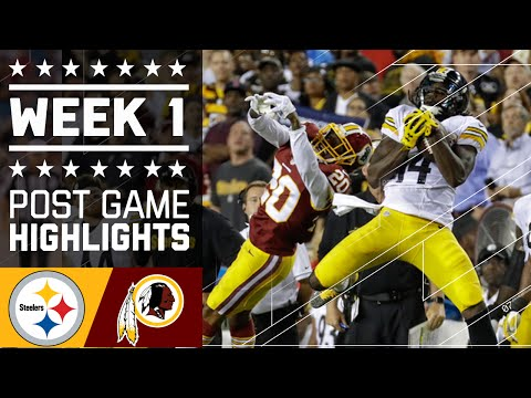 Steelers vs. Redskins | NFL Week 1 Game Highlights