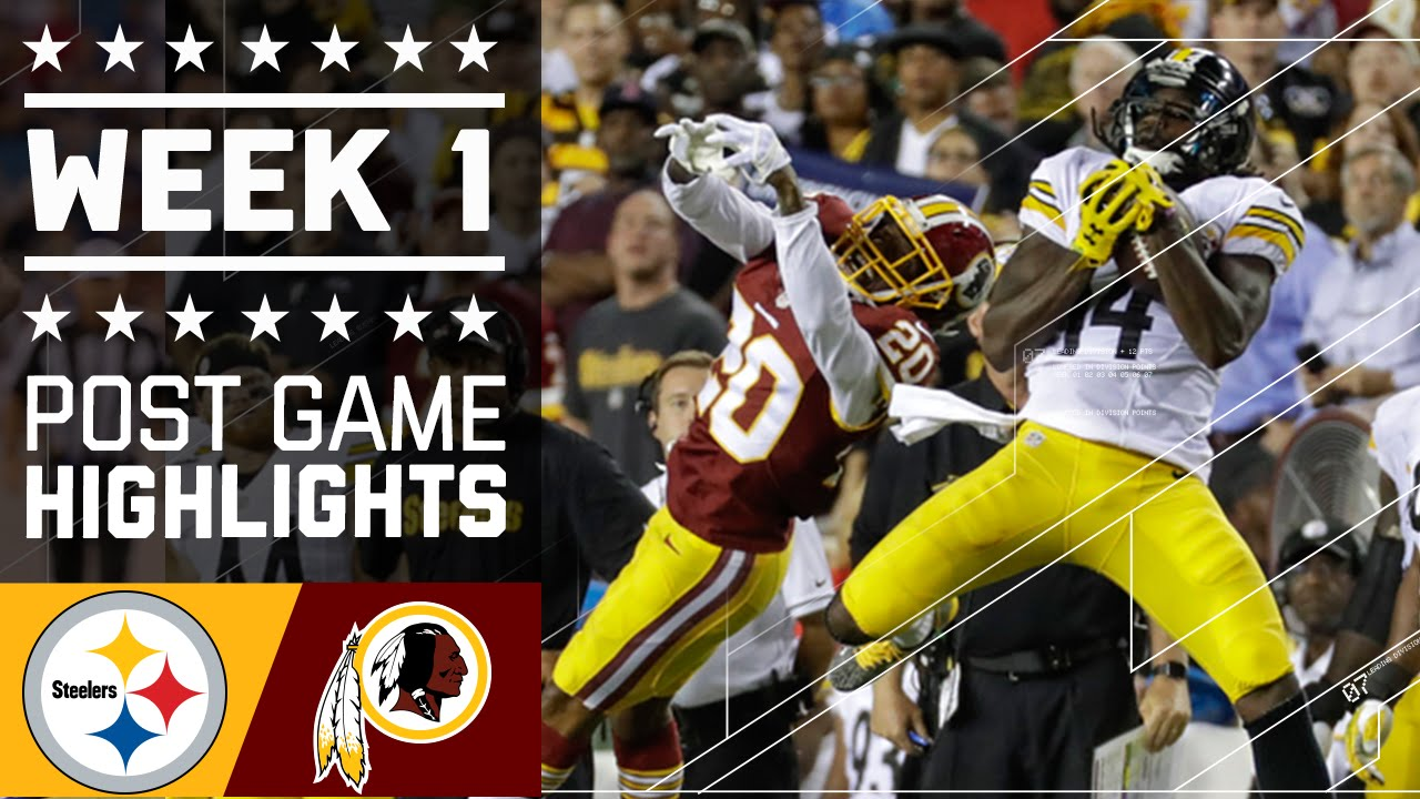 Steelers vs redskins nfl week 1 game highlights youtube redskins nfl week 1 game highlights youtube voltagebd
