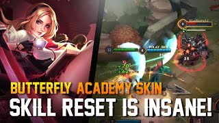 Strike of Kings Skins: SKILL RESET IS INSANE!! Butterfly [Academy Skin] Gameplay