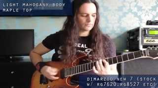 7-string metal bridge pickup comparison - Dimarzio vs EMG Seymour Duncan - full mix