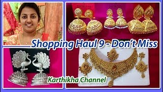 Shopping Haul in Tamil / Shopping Haul 9 - T.Nagar Saravana Stores - Jewellery & Accessories