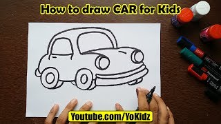 How to draw CAR for kids