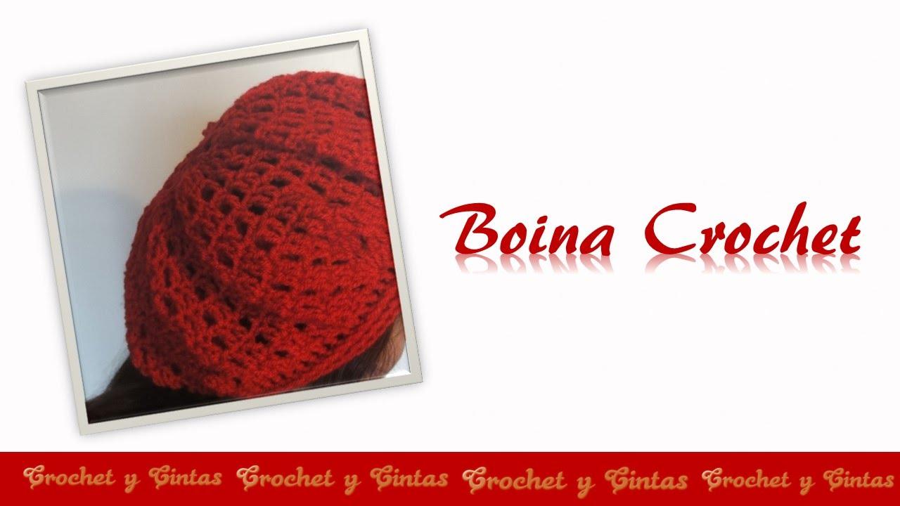 Boina crochet (ganchillo) para mujeres - Parte 2 - YouTube