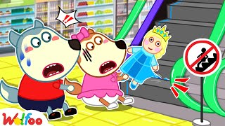 Safety at the Mall With Wolfoo - Wolfoo Learns Safety Tips for Kids   Wolfoo Family Kids Cartoon