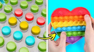 POP IT! Satisfying DIY Crafts For Smart Parents    Slime And Kinetic Sand Tricks, Cool Experiments