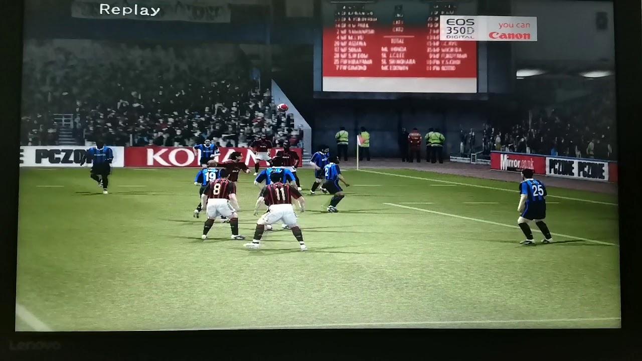 Pes 2006 (Milan vs Inter) Nice goal! 🔥😍