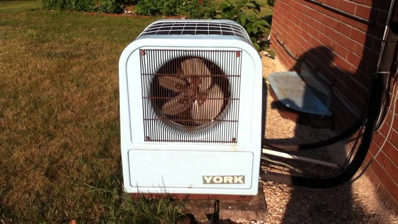 York Tombstone Air Conditioner Running   YouTube