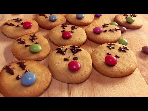 biscuits-au-beurre-de-noËl-en-forme-de-rennes||-recette-facile-et-rapide