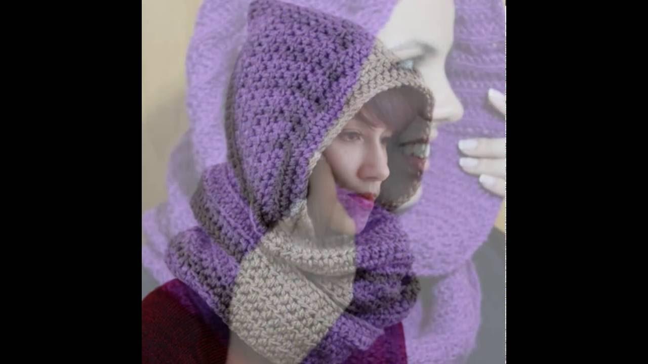 07706eeaf97a2 Linda Gola capuz em tricô..! - YouTube