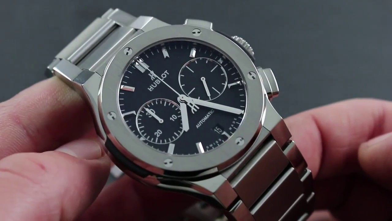 Hublot Classic Fusion Chronograph Titanium 520.NX.1170.NX Showcase Review 7a5546a7e0