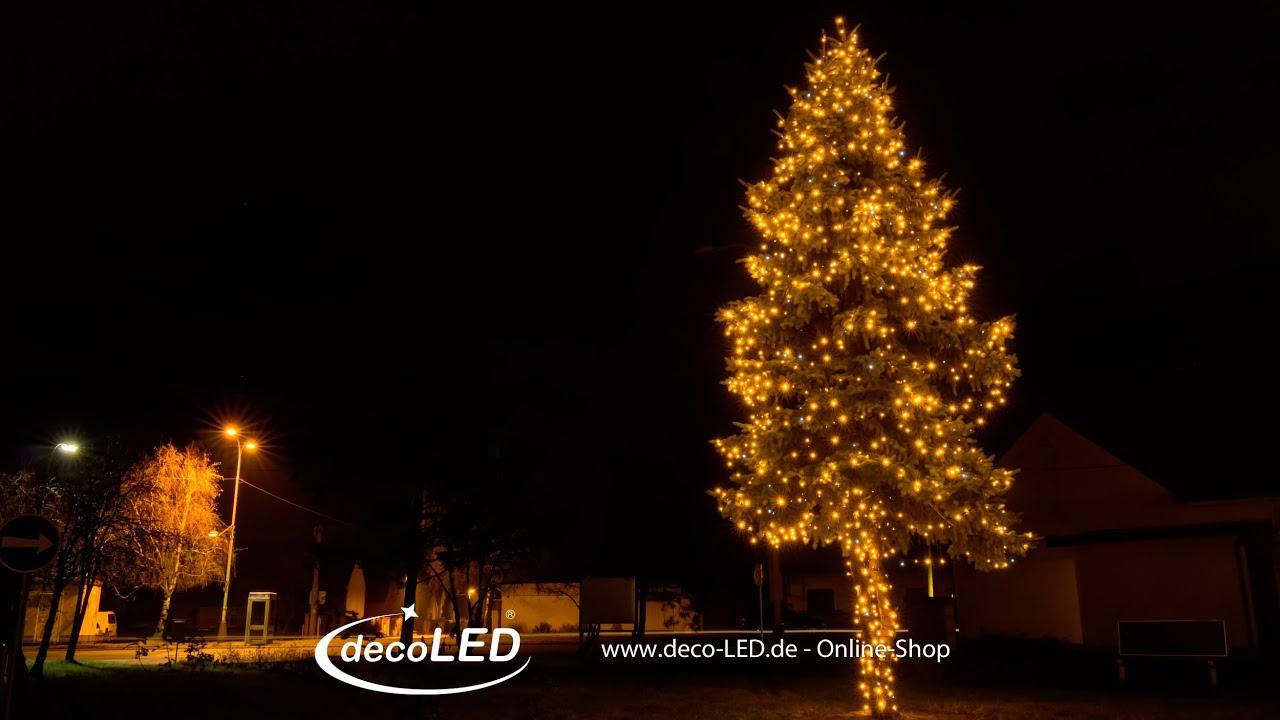 Weihnachtsbeleuchtung Anbringen.Led Lichterkette Für Außen