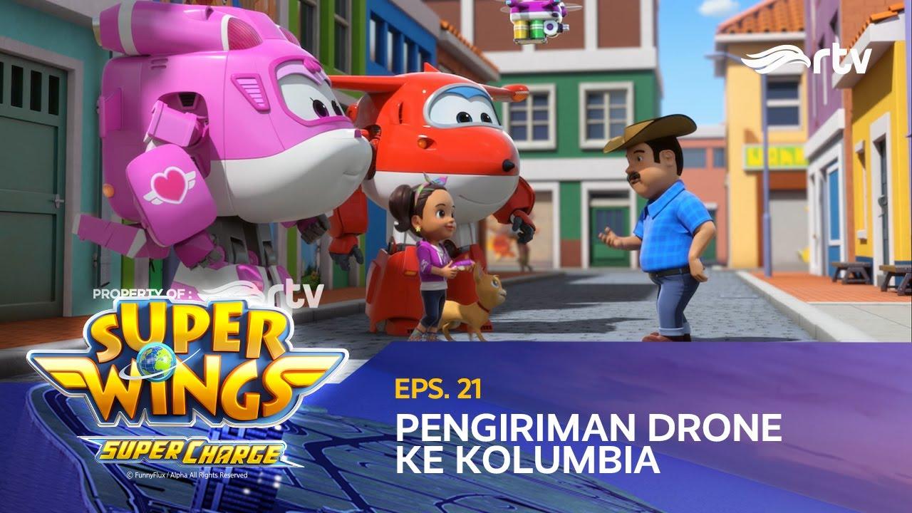 super wings indonesia rtv  pengiriman drone ke kolombia