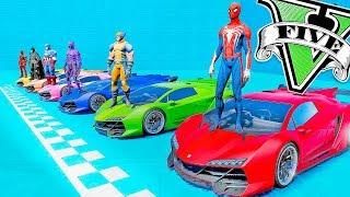 Homem Aranha e Herois no Desafio das RAMPA Malucas | GTA 5 Gameplay