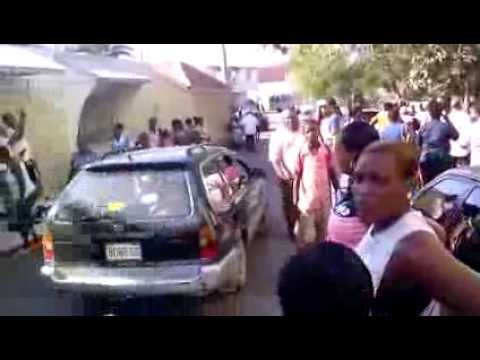 Fight between PNP Supporters of Atkinson and JP White in Falmouth