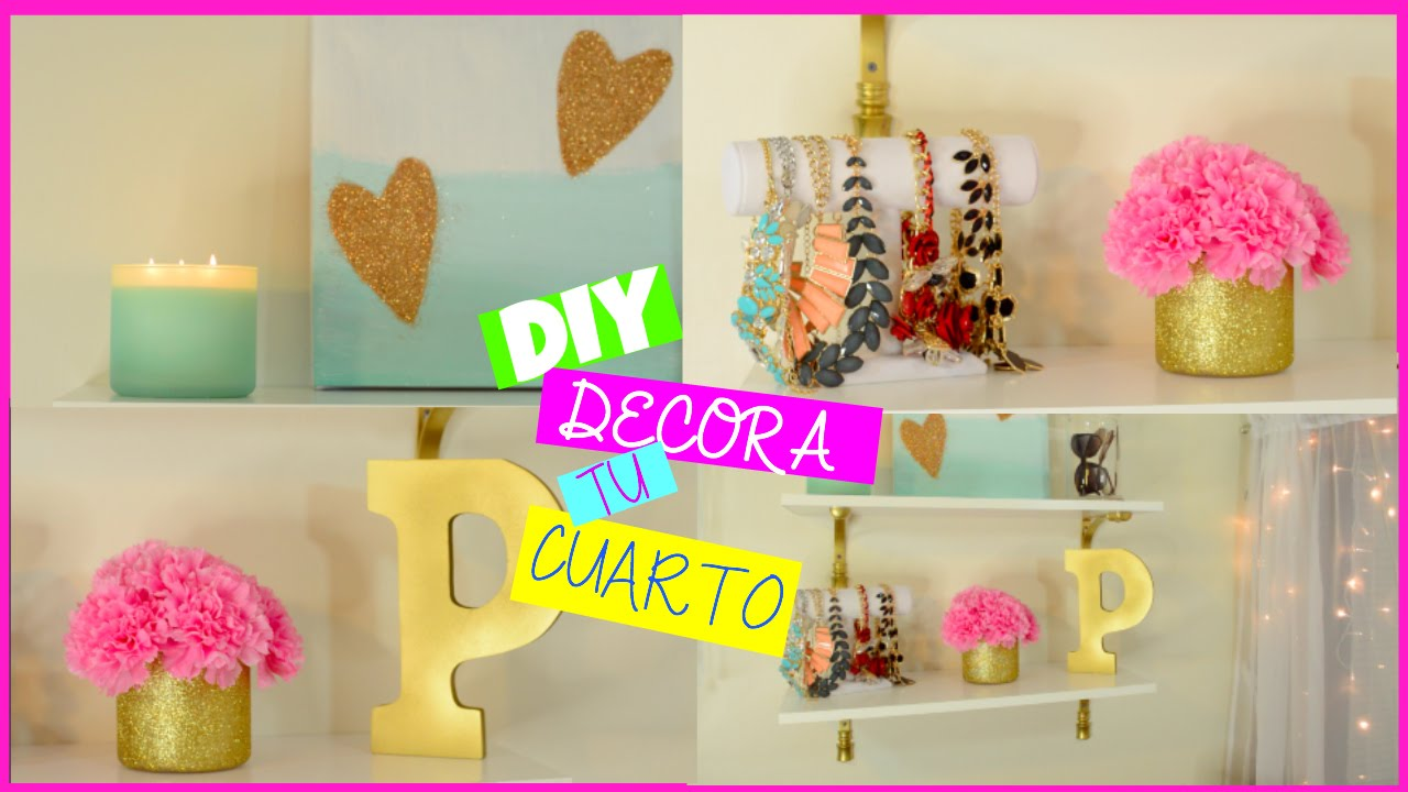 Diy decora tu cuarto collab andreina gonzalez youtube for Como se decora una habitacion
