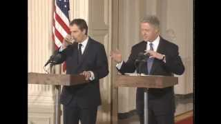 Pres. Clinton and P.M. Blair Joint Press Conference (1998)