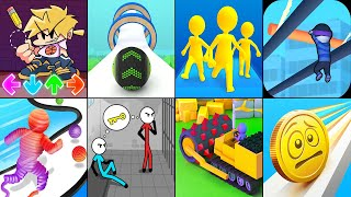 FNF Draw Puzzle,Going Balls,Join Clash 3D,Rope-Man Run,Stickman Escape Prison,Stone Miner,Coin Rush