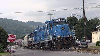 Nittany & Bald Eagle Railroad Operating Around Tyrone, PA. 8-10-18.