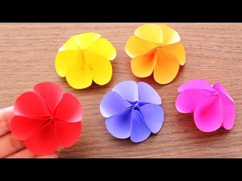 Diy How To Make Small Paper Flower Diy Handmade Craft Paper Craft Mini Flower