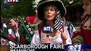 Scarborough Faire 2005 - Mattie Roberts Live Shot KTVT/CBS 11 Morning Show