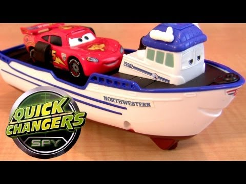 Crabby Boat Quick Changers Launcher Cars 2 Deluxe Disney Pixar Mattel toys review by Blucollection
