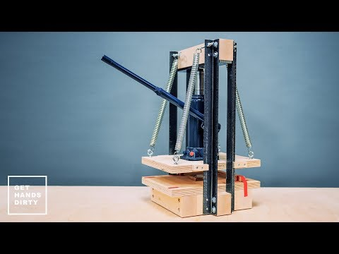 How To Make An Hydraulic Press For Paper // Emboss And Print