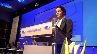 Torhild Aarbergsbotten om regional utvikling på Høyres landsmøte